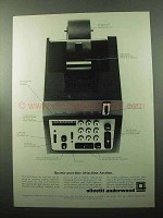 1969 Olivetti Quanta Adding Machine Ad - Saves Time