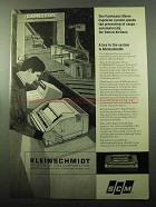 1969 SCM Kleinschmidt 311 Data Printer Ad - Caprocon