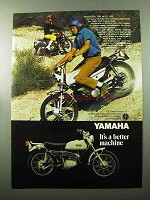 1969 Yamaha 125 Single Enduro AT-1 Motorcycle Ad