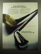 1969 Spalding Top-Flite Clubs Ad - For Scratch Golfer