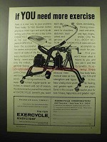 1969 Exercycle Exerciser Ad - If You Need More Exercise