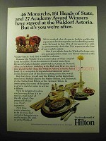 1969 Hilton Hotel Ad - At The Waldorf Astoria