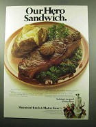 1969 Hilton Hotels & Motor Inns Ad - Our Hero Sandwich