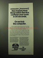 1969 Howard Johnson's Hotel Ad - Instant Host