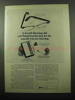 1969 Zenith Hearing Aids Ad - Can Listen Harder