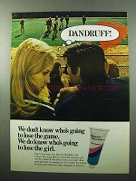1969 Head & Shoulders Shampoo Ad - Dandruff!