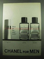 1969 Chanel A Gentleman's Cologne and After Shave Ad