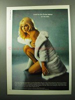 1969 Emba Mink Fur Ad - Look For the Stam on the Skin