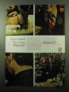 1969 Gant Highwick Shirt Ad - Great Spread