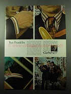 1969 Gant Kaleidoscope Striped Broadcloth Shirt Ad