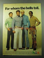 1969 h.i.s. Bell Bottoms Ad - For Whom the Bell Toll
