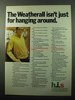 1969 h.i.s. Weatherall Jacket Ad - Isn't Hanging Around