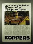 1969 Koppers Roofing Ad - Idea in Wood Roofing