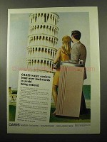 1969 Oasis Water Cooler Ad - Bend Over Backwards