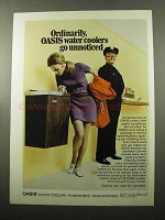 1969 Oasis Water Cooler Ad - Ordinarily Go Unnoticed