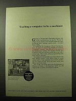 1969 Warner & Swasey CUTS Computer Utilized Turning Ad