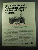 1969 Burroughs L 2000 Computer Ad - Fourth-Generation