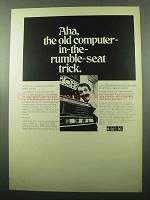 1969 Digital Computerpacks Ad - In-the-Rumble-Seat
