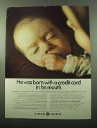 1969 General Electric Ad - Born With a Credit Card