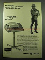 1969 General Electric Computer Time-Sharing Service Ad - Custer