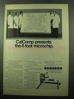 1969 Calcomp 718 Flatbed Plotter Ad - 6 Foot Microchip