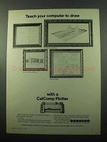 1969 Calcomp Plotter Ad - Teach Your Computer to Draw
