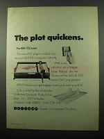 1969 Calcomp Model 718 Flatbed Plotter Ad - Quickens