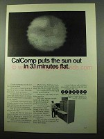 1969 Calcomp 835 Plotter Ad - Sun Out in 3.1 Minutes