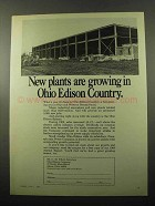 1969 Ohio Edison Ad - New Plants are Growing