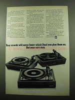 1969 Dual 1209, 1212 and 1219 Turntables Ad