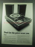 1969 Sylvania MS150 Stereo System Ad - Price Scare You