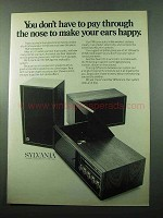 1969 Sylvania CS15W Stereo Ad - Don't Pay Through Nose
