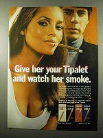 1969 Muriel Tipalet Cigar Ad - Watch Her Smoke