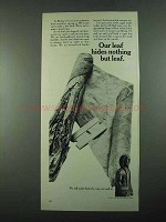 1969 Bering Cigars Ad - Our Leaf Hides Nothing