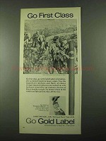 1969 Gold Label Cigars Ad - First class