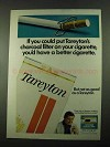1969 Tareyton Cigarettes Ad - Put Charcoal Filter On