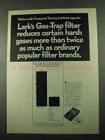 1969 Lark Cigarettes Ad - Reduces Certain Harsh Gases
