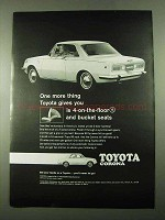 1969 Toyota Corona Car Ad - 4-on-the-Floor Bucket Seats