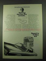 1969 J/Wax Kit Wax Ad - Stirling Moss Reports Can-Am