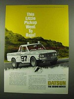 1969 Datsun Truck Ad - Little Pickup Went to Baja