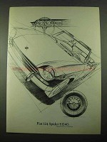 1969 Fiat 124 Spider Car Ad - $3240
