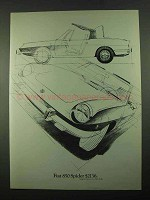 1969 Fiat 850 Spider Car Ad - $2136