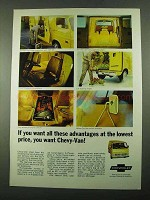 1969 Chevrolet Chevy-Van Ad - All These Advantages
