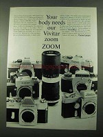 1969 Vivitar Auto 85-205mm Zoom Lens Ad - Your Body