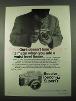 1969 Beseler Topcon Super D Camera Ad - Waist Level