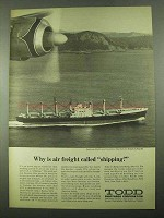 1969 Todd Shipyards Corporation Ad - Air Freight