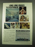 1969 Holland-America Line Cruise Ad - Long, Long