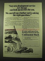 1969 continental Bank Ad - Developement Service