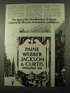 1969 Paine Webber Jackson & Curtis Ad - The Sign Of