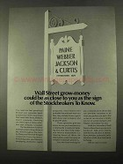 1969 Paine Webber Jackson & Curtis Ad - Grow-Money